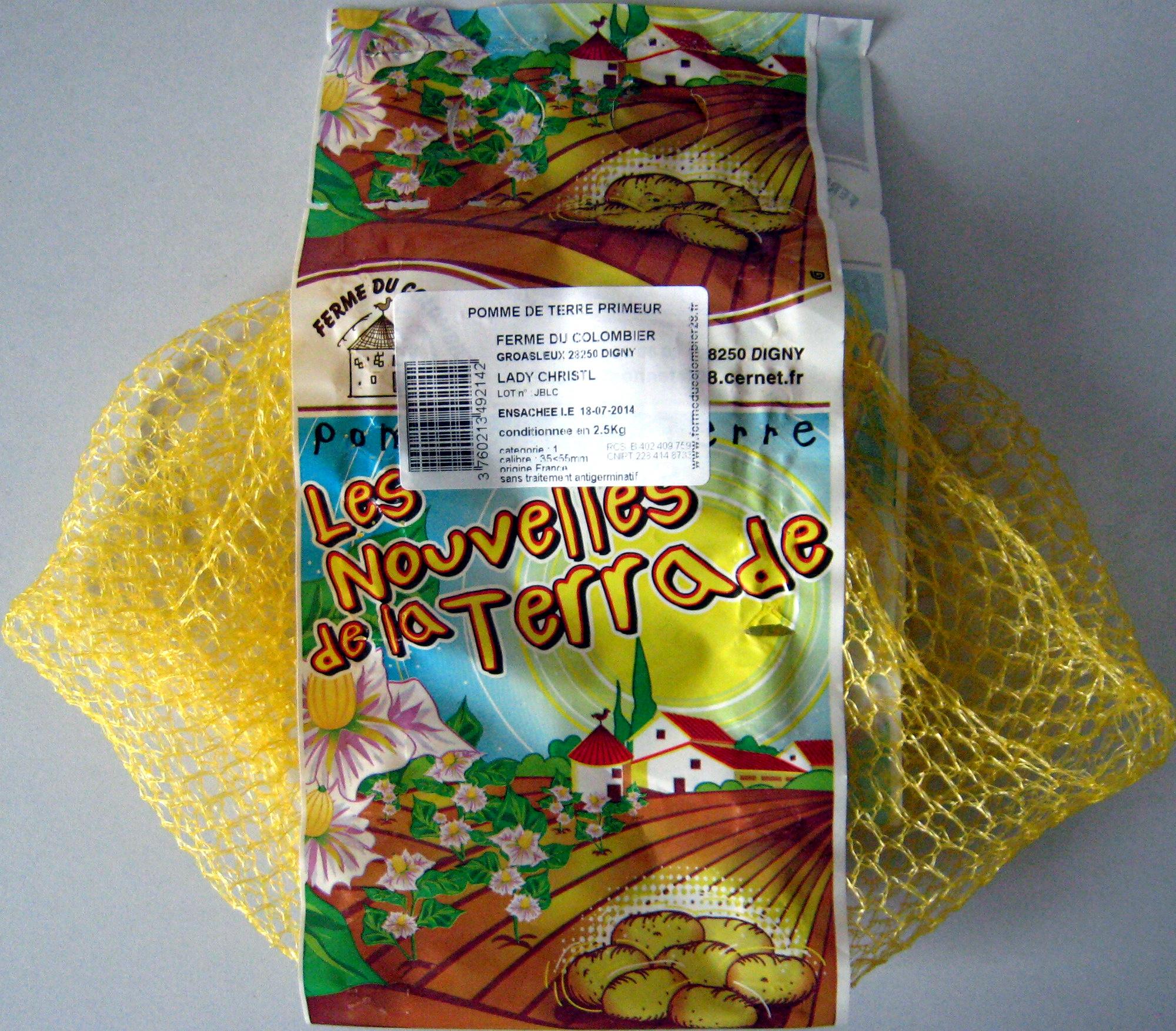 Pommes de terre primeur Lady Christl Ferme du Colombier - Product - fr