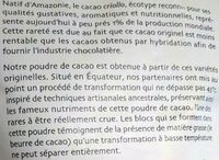Cacao cru ~ Theobroma cacao L ~ Poudre - Ingrédients