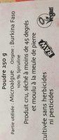 Spiruline Crue En Poudre - 250 G - Sol Semilla - Ingredients - fr