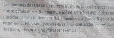 Pommes de terre bio «non lavées» à chair tendre - Ingredienti - fr