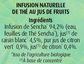 Thé Vert au Jus de Citrons - Ingredients - fr