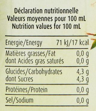 Herbalist Bio Verveine au Jus de Cerise Griotte - Nutrition facts