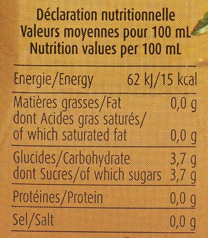 Maté Vert au Jus de Passion & Guarana - Nutrition facts