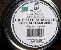La P'tite Semoule Rhum/Raisins - Ingrédients - fr