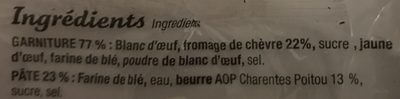 Tourteau fromagé pasteurisé l'Original chèvre - Ingrédients