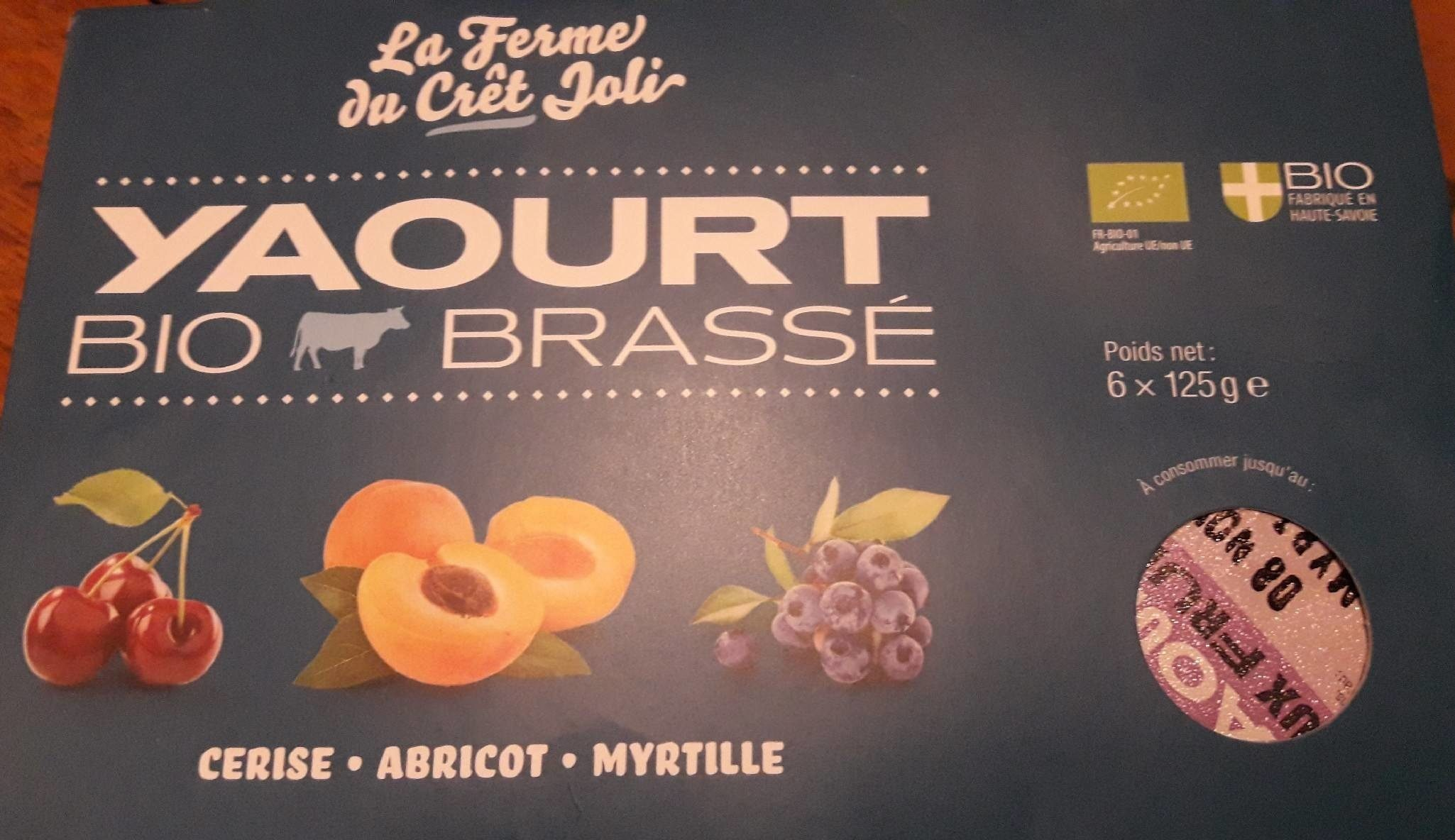 Yaourts Fruits Cerise Abricot Myrtille - Produit