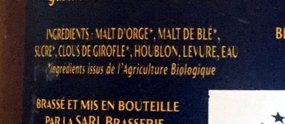 Blonde - Ingrédients - fr
