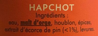 Ambrée - Ingrédients - fr