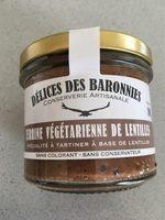 Terrine Végétarienne De Lentilles Délices Des Baronnies - Product
