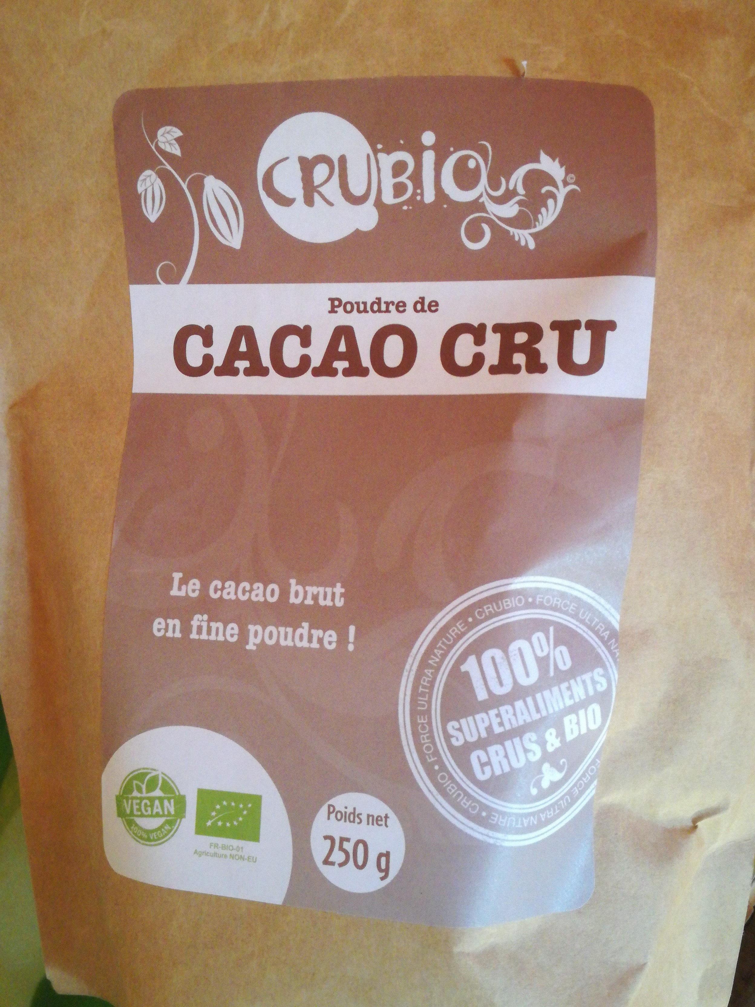 Crubio Cacao En Poudre Cru Et Biologique - Product