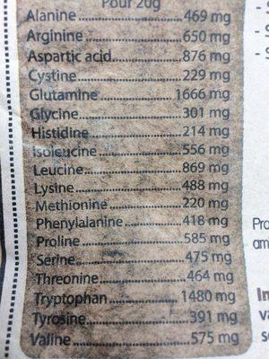 Proteine de riz vanille - Ingrédients
