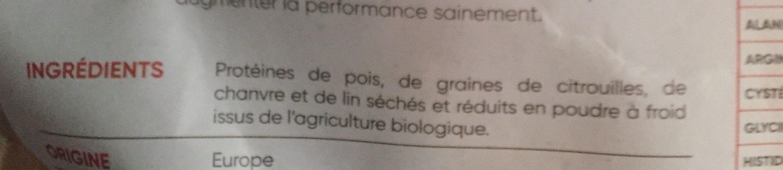 Mix protéines premium - Ingrédients