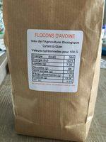 Flocons d'avoine bio - Ingrediënten - fr