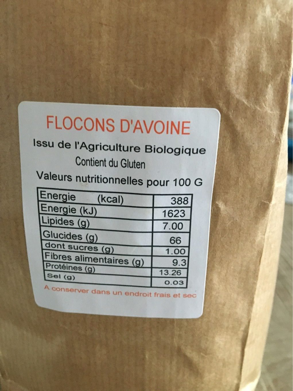 Flocons d'avoine bio - Voedingswaarden - fr