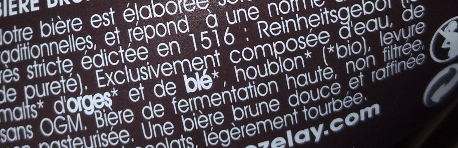 Brune Bio de Vezelay - Ingrediënten - fr