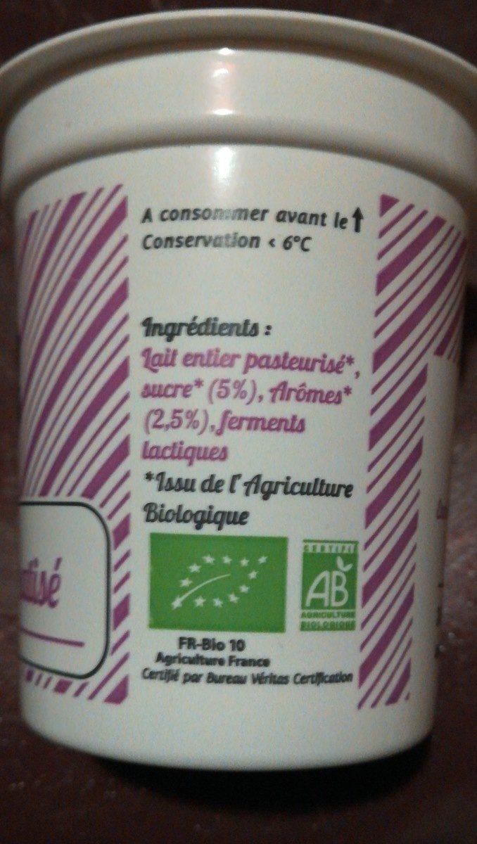 Yaourt Aromatisé Biologique - Ingrédients