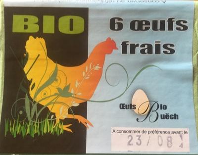 Bio oeufs frais - Produit