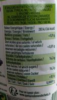 Jus De Raisin Rouge Tetra - Nutrition facts - fr