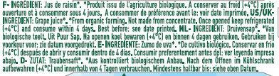 Pur jus de raisin bio - Ingredienti - fr