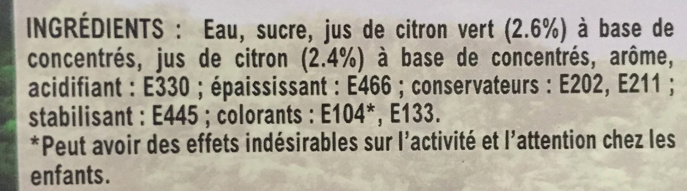 Mojito sans Alcool - Ingrédients - fr