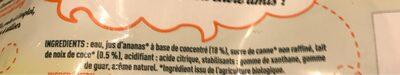Piña Colada Bio sans alcool - Ingrédients - fr