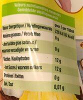 Piña Colada Bio sans alcool - Informations nutritionnelles - fr