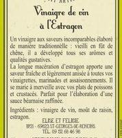 Vinaigre de Vin à l'Estragon - Ingredients - fr