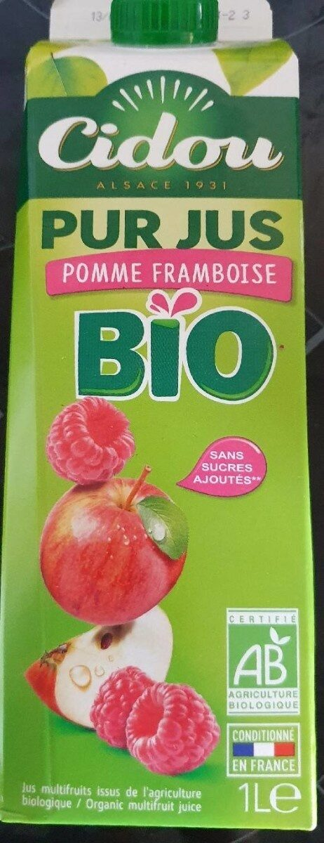 Cidou pur jus pomme framboise - Product - fr