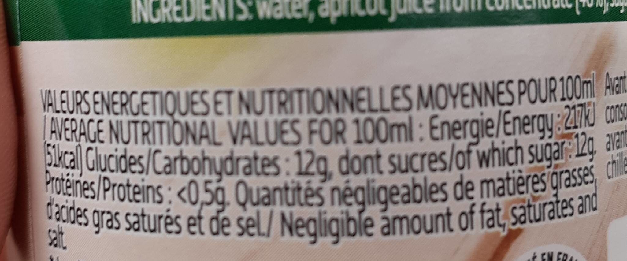 Abricot - Nutrition facts