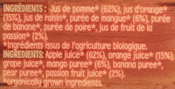 Pur jus tropical bio - Ingrediënten - fr