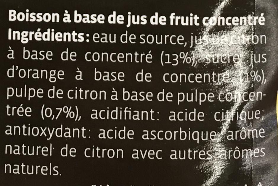 Citronnade - Ingredients