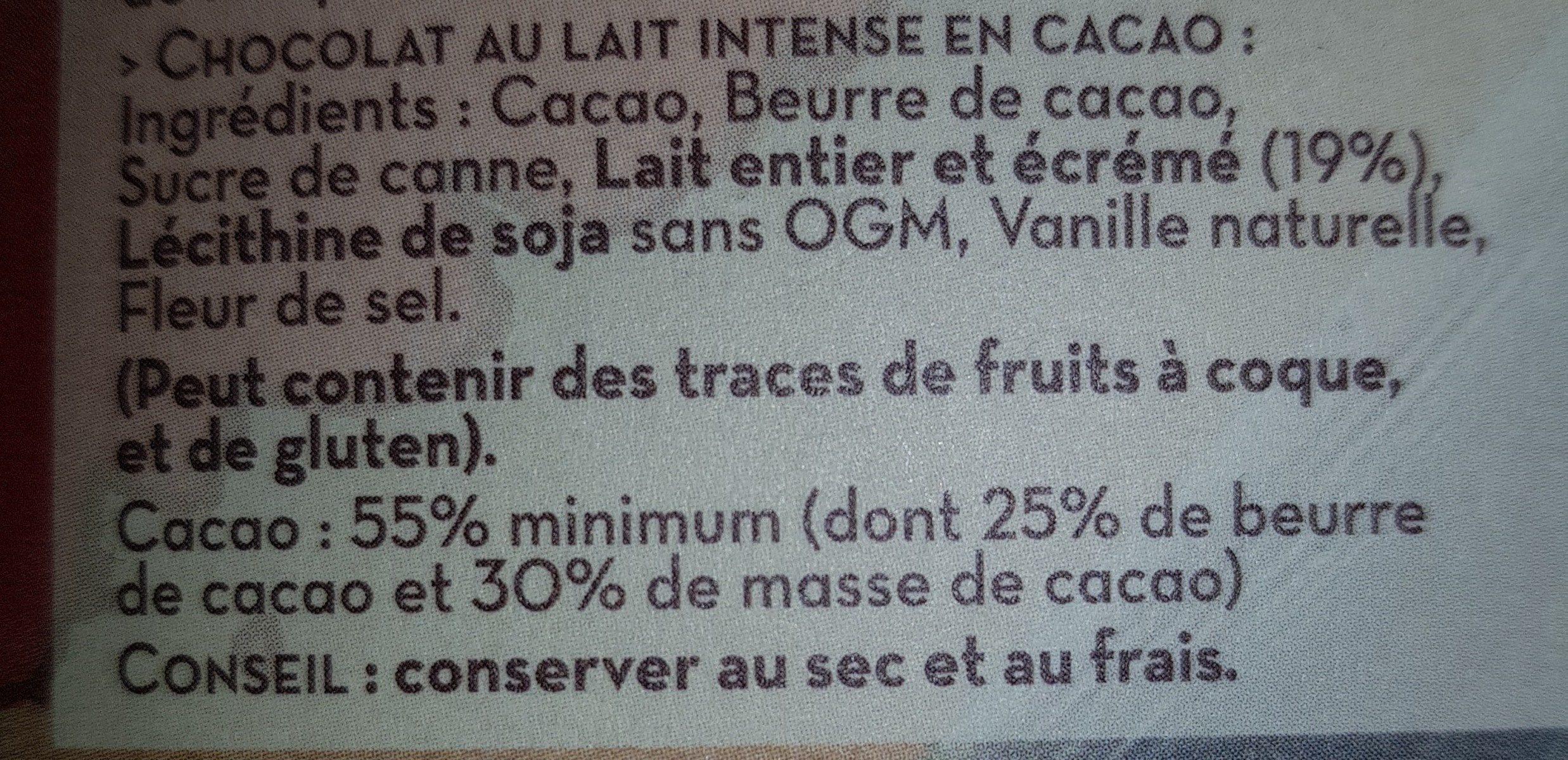 Lait intense en cacao - Ingrédients - fr