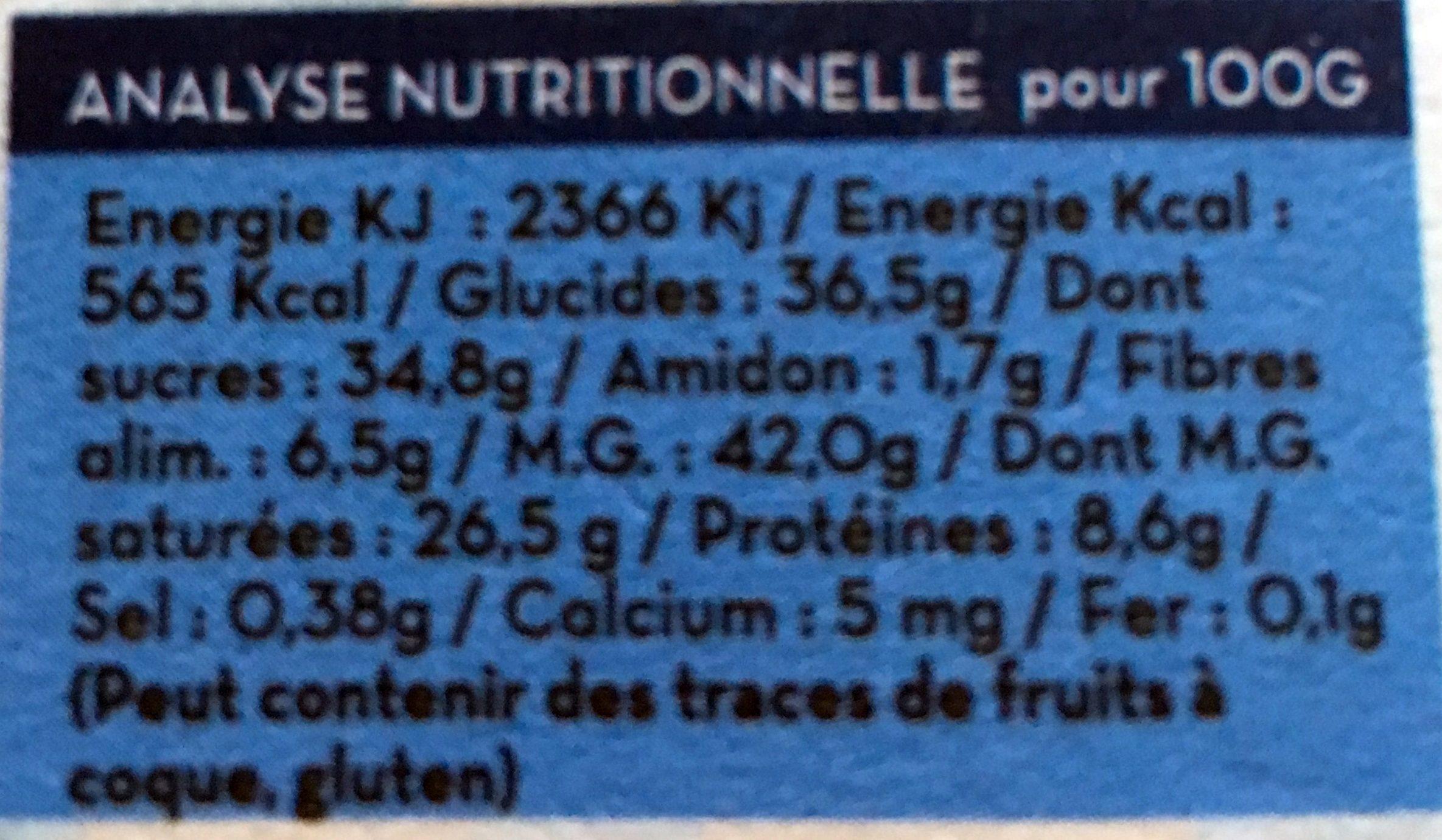 Lait intense en cacao - Informations nutritionnelles - fr
