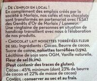 Lait noisettes torrefiées - Ingrediënten - fr