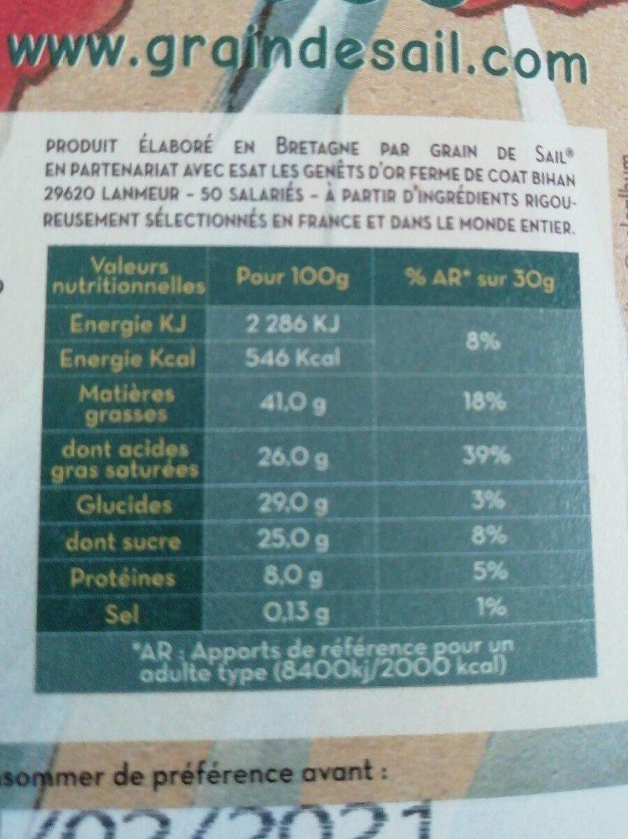 Noir Earl Grey - Informations nutritionnelles - fr