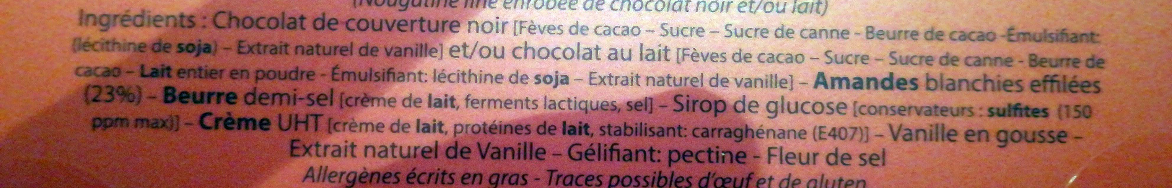 Caramandes - Ingrédients - fr