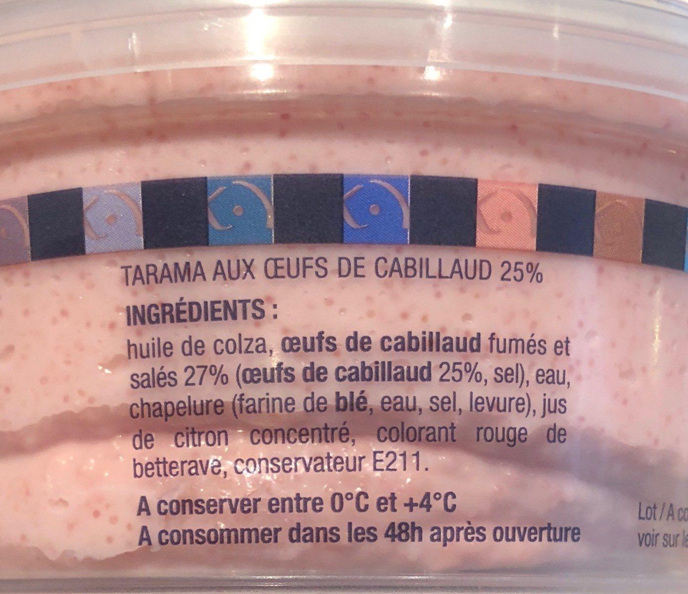 Tarama Œufs de Cabillaud - Ingredients - fr