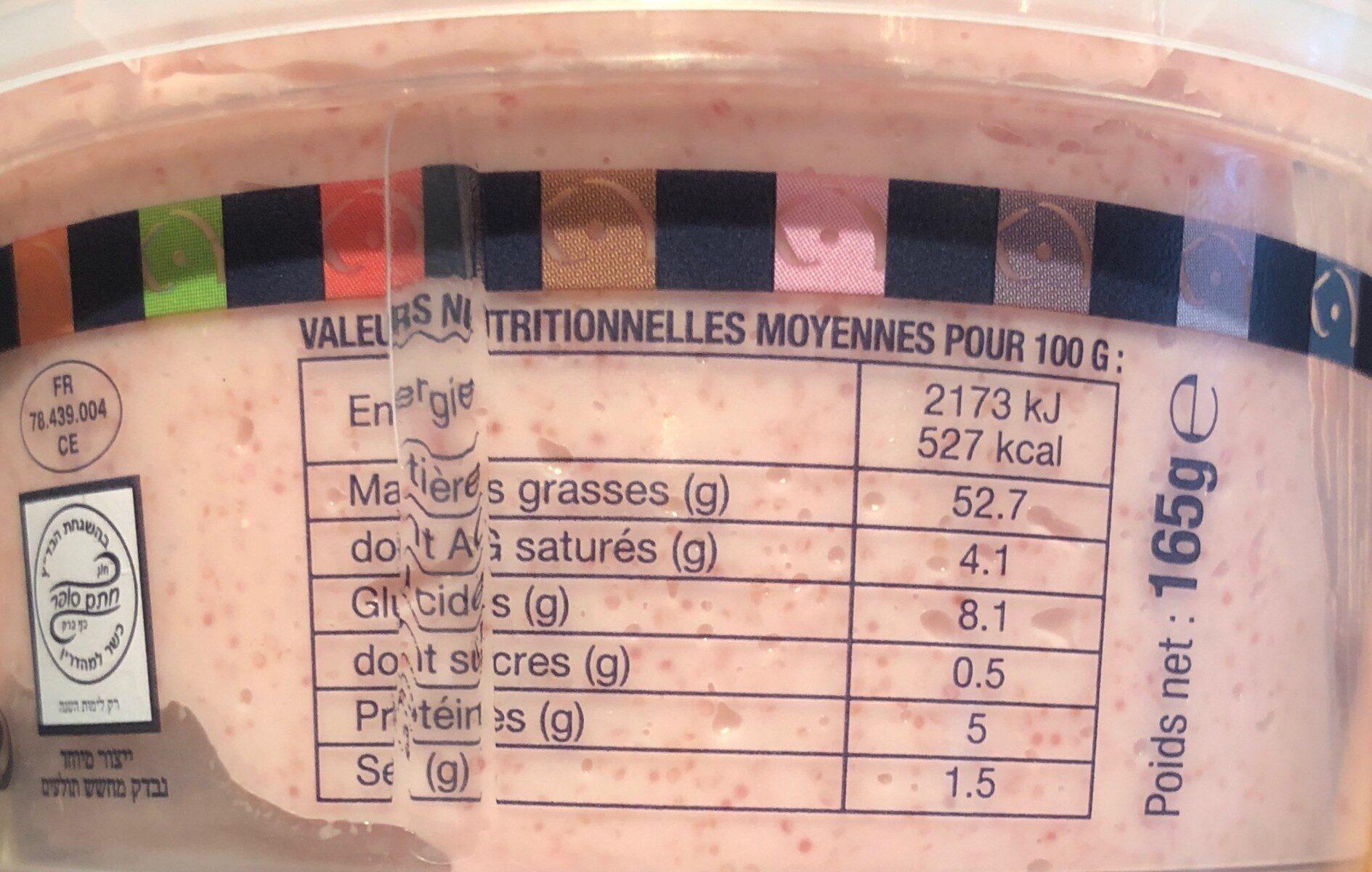 Tarama Œufs de Cabillaud - Nutrition facts - fr