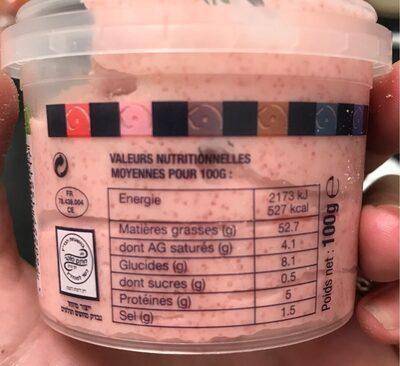 Tarama aux oeufs de cabillaud - Informations nutritionnelles - fr