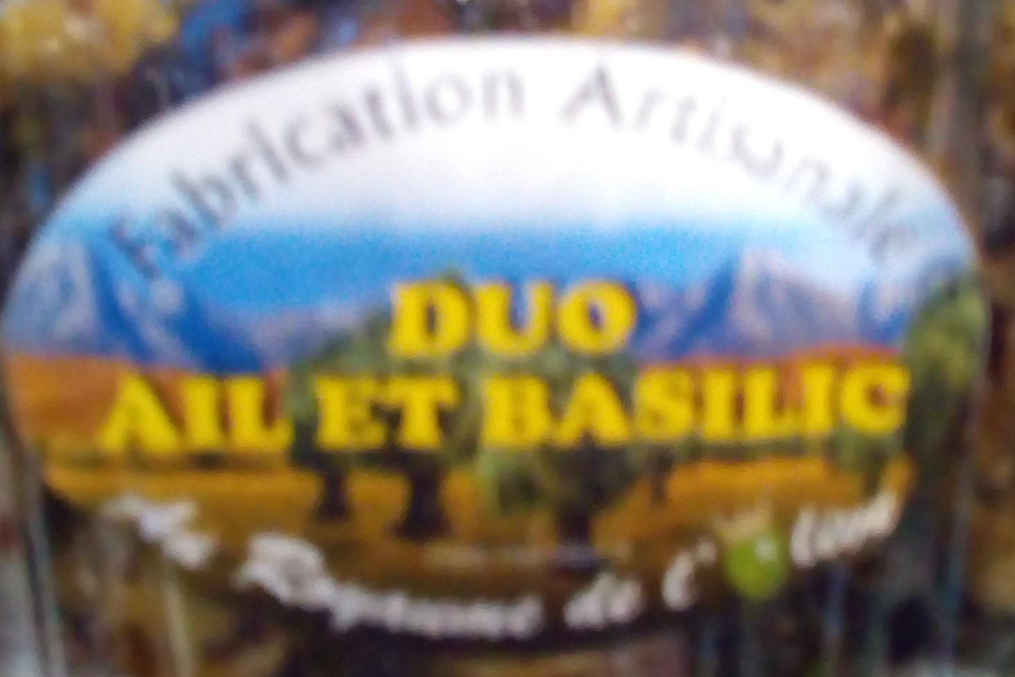 olives duo ail et basilic - Produit - fr