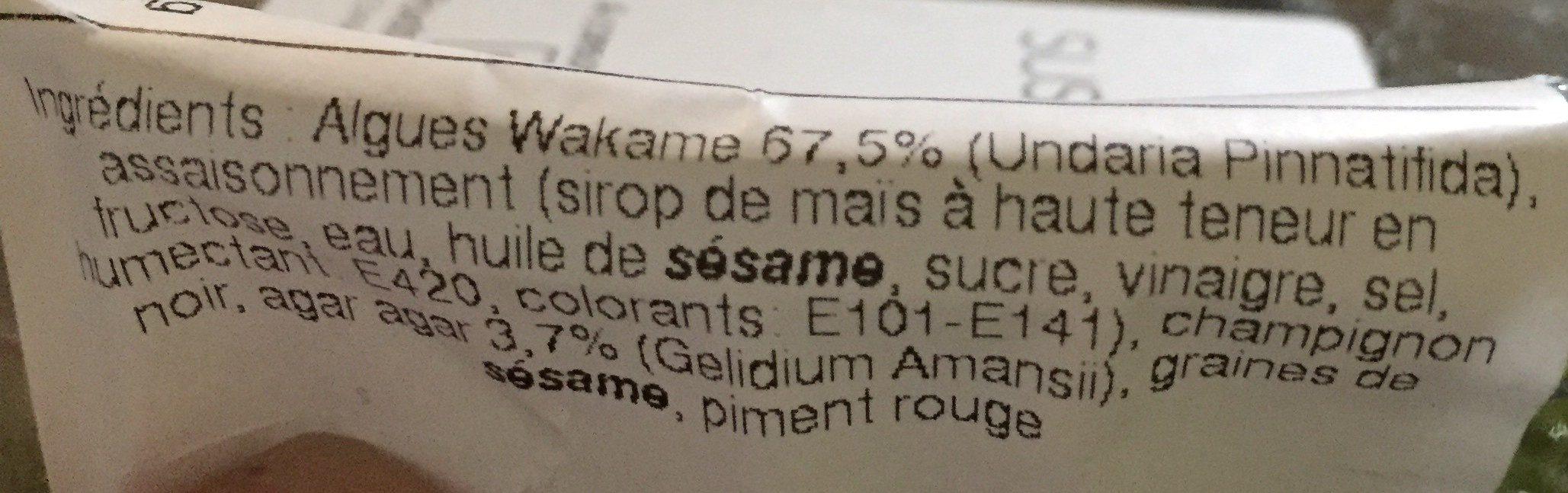 Salade d'algue - Ingrédients - fr