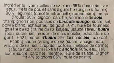 Bobun poulet - Ingrédients - fr