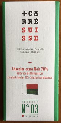 Chocolat extra Noir 70% Madagascar - Produit - fr