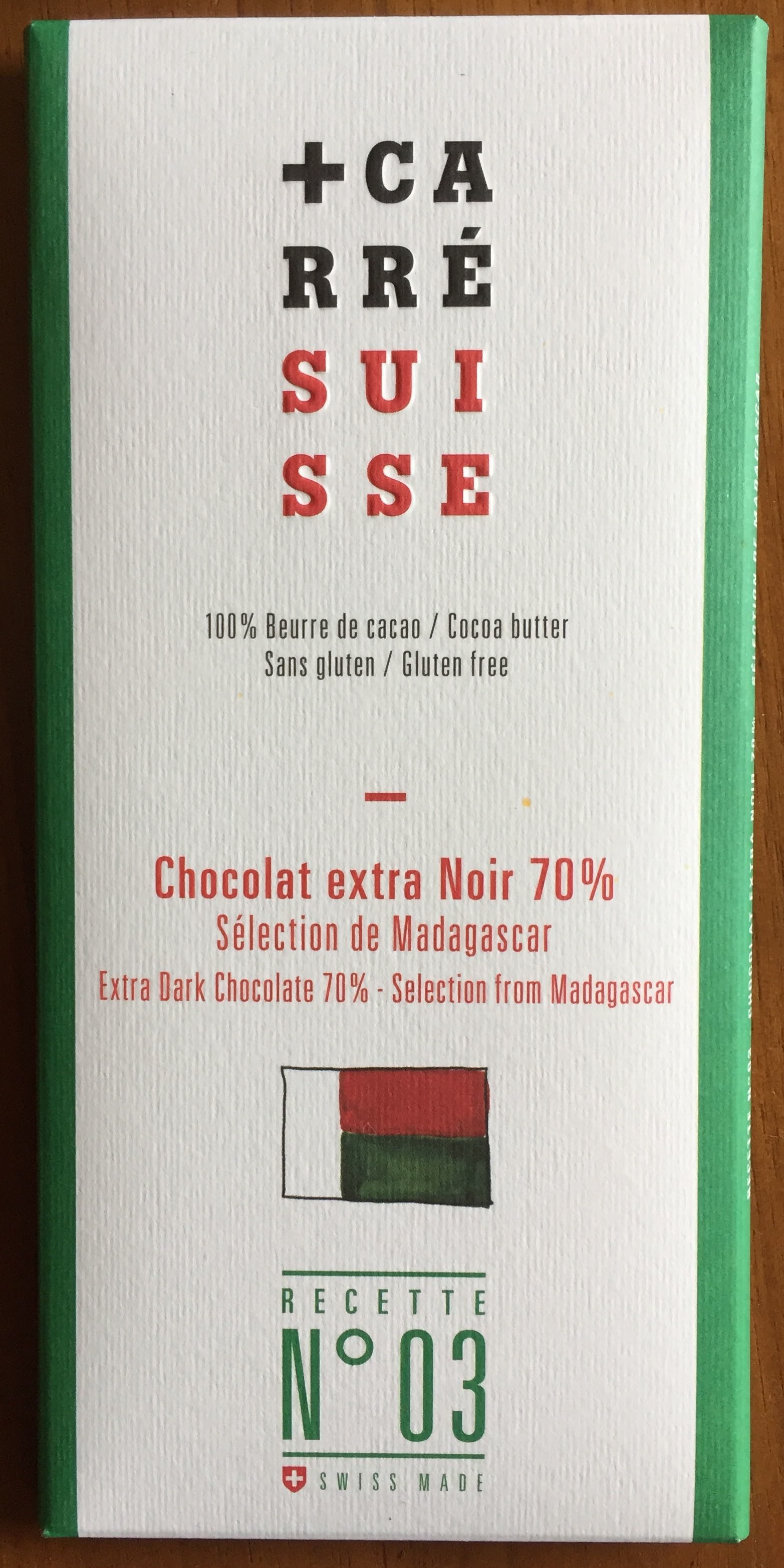 Chocolat extra Noir 70% Madagascar - Produit