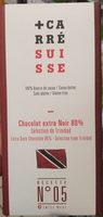 Chocolat extra  Noir 80% - Produit