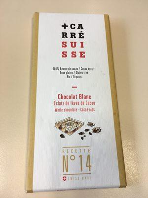 Recette n°14 - Chocolat blanc éclats de fèves de cacao - Prodotto - fr