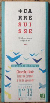 Chocolat noir caramel & sel de Guérande bio recette N°33 - Produit