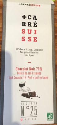 Chocolat Noir 71% Pointe de sel d'Islande - Produit