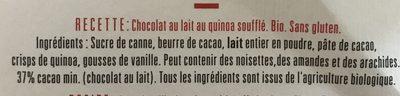 Chocolat au lait quinoa soufflé - Ingrédients