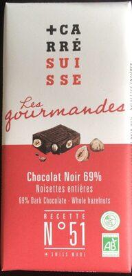 Chocolat Noir 69% noisettes entières - Produit - fr